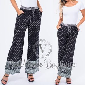 Tribal Wide leg pants